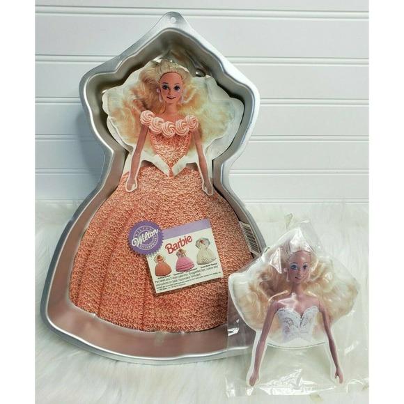 Wilton #504-2551 Barbie Baking Mold Tin 1992